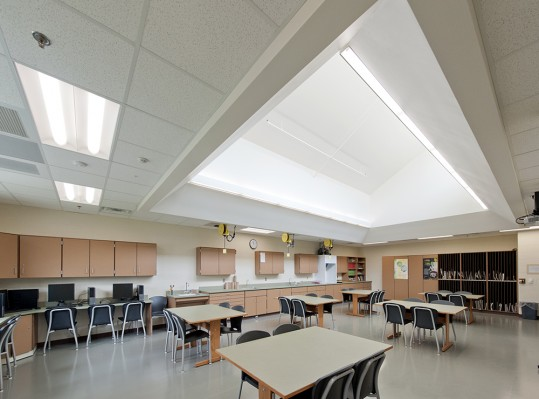 ... clerestory windows and light shelves. Reducing the need for artificial lighting translates into long-term savings in utility costs and energy usage. & Auburn High School - RRMM Architects azcodes.com